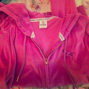 Zip up hoodie, PINK by VS